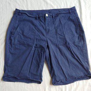 Lane Bryant Navy Blue Bermuda Shorts 22